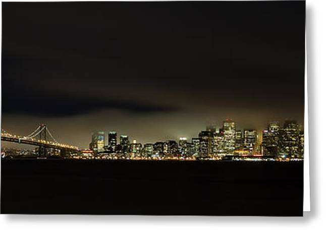 Bay Bridge Greeting Cards - Bay Bridge San Francisco Greeting Card by C.s.tjandra