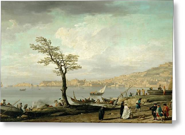 Bay Of Naples Greeting Card by Celestial Images