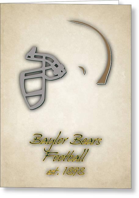 Baylor Bears Helmet Greeting Card by Joe Hamilton
