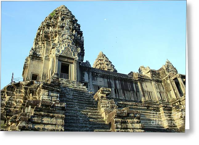 Historic Statue Greeting Cards - Bayon temple Greeting Card by Maurizio Biso