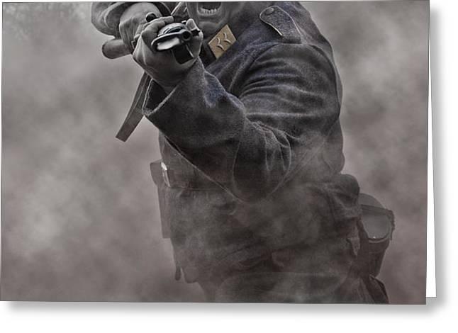 Bayonet Warrior Greeting Card by Mark H Roberts