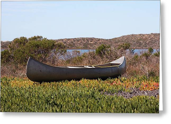 Baywood Park Canoe Greeting Card by Art Block Collections