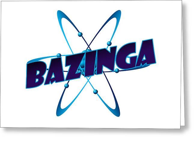 Bazinga - Big Bang Theory Greeting Card by Bleed Art