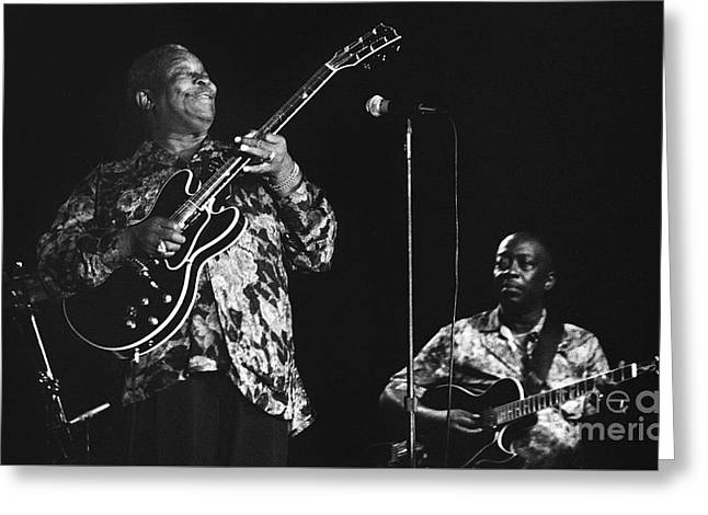 Artist Photographs Greeting Cards - BB King 96-2172 Greeting Card by Gary Gingrich Galleries