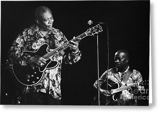 Artist Photographs Greeting Cards - BB King 96-2174 Greeting Card by Gary Gingrich Galleries