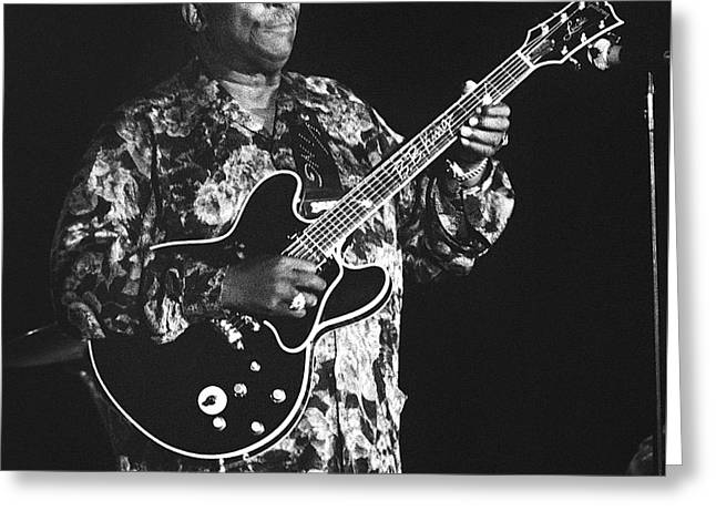 Artist Photographs Greeting Cards - BB King 96-2181 Greeting Card by Gary Gingrich Galleries