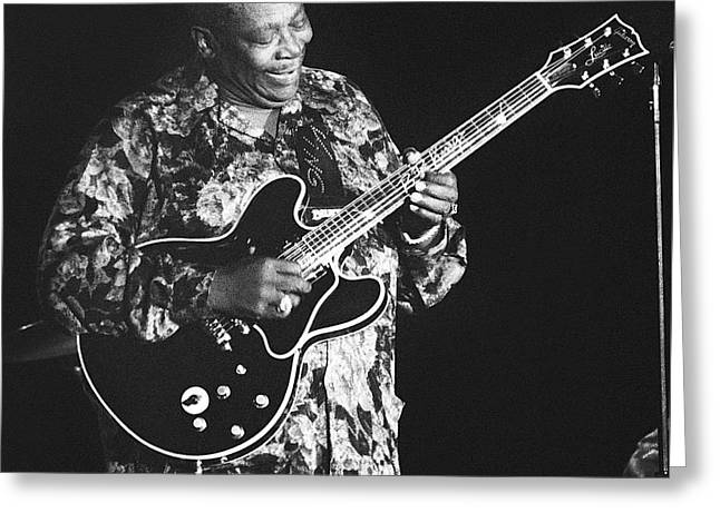 Artist Photographs Greeting Cards - BB King 96-2182 Greeting Card by Gary Gingrich Galleries