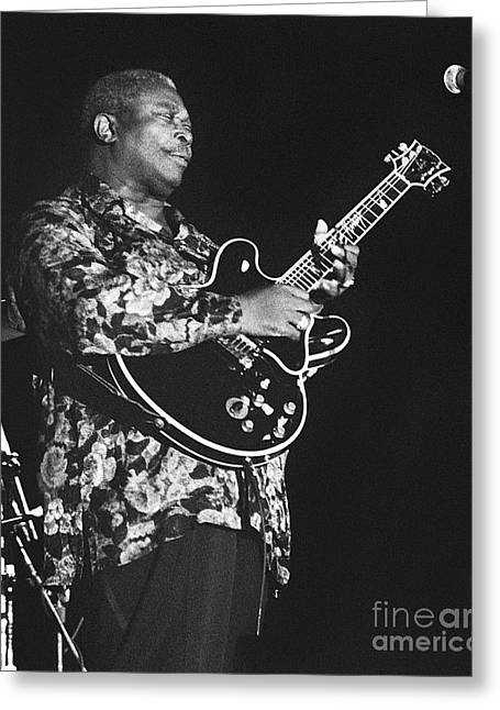 Artist Photographs Greeting Cards - BB King 96-2188 Greeting Card by Gary Gingrich Galleries