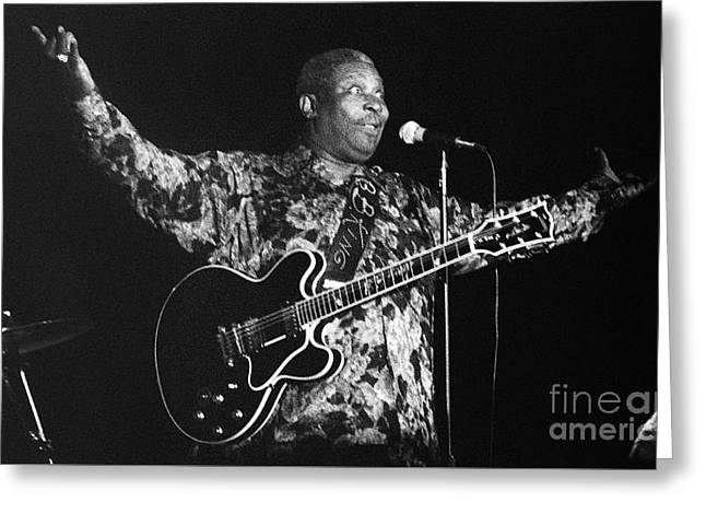 Artist Photographs Greeting Cards - BB King 96-2193 Greeting Card by Gary Gingrich Galleries