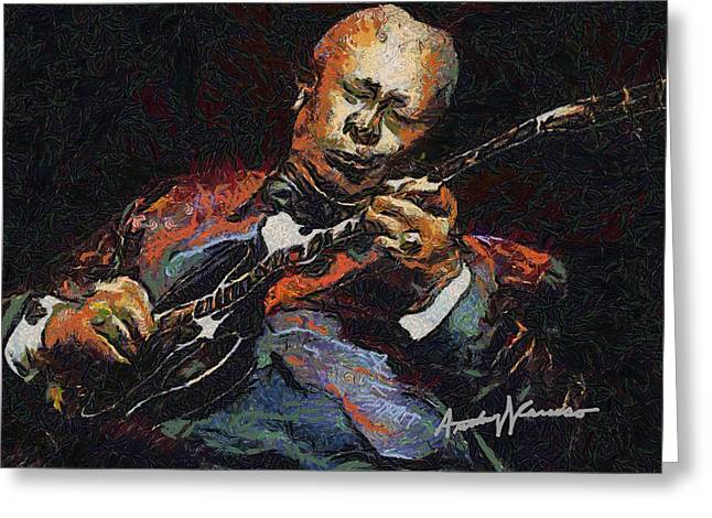 Lucille Greeting Cards - BB King Greeting Card by Anthony Caruso