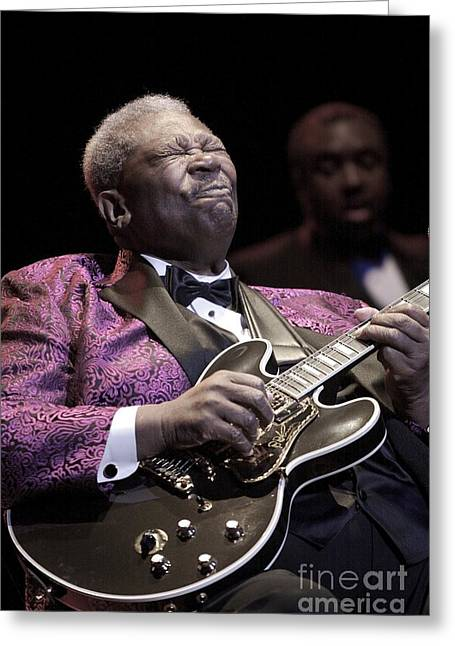 B.b. King Greeting Card by Front Row  Photographs