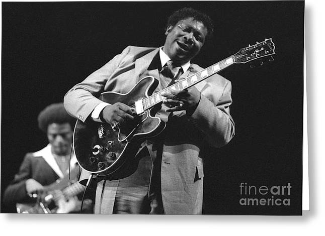 Bb King In Love With Lucille Greeting Card by Philippe Taka