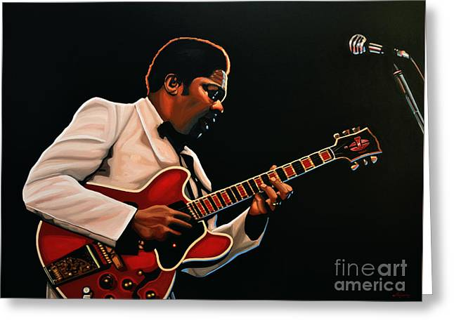 String Greeting Cards - B. B. King Greeting Card by Paul Meijering