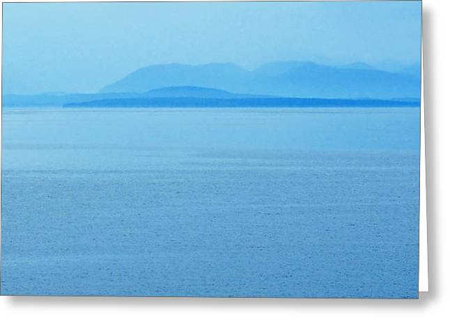 Panoramic Ocean Photographs Greeting Cards - BC Coastline  Greeting Card by Marion McCristall