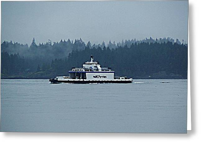 Car Carrier Greeting Cards - BC Ferries Island Hopper Greeting Card by Barbara St Jean