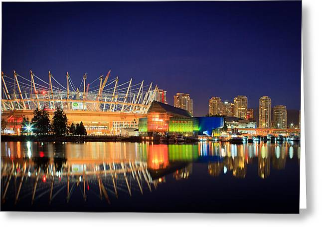 Bc Greeting Cards - BC Place Stadium Greeting Card by Bea Carlson