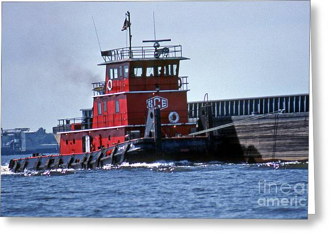 Surf Photos Art Greeting Cards - Bce Tug Greeting Card by Skip Willits