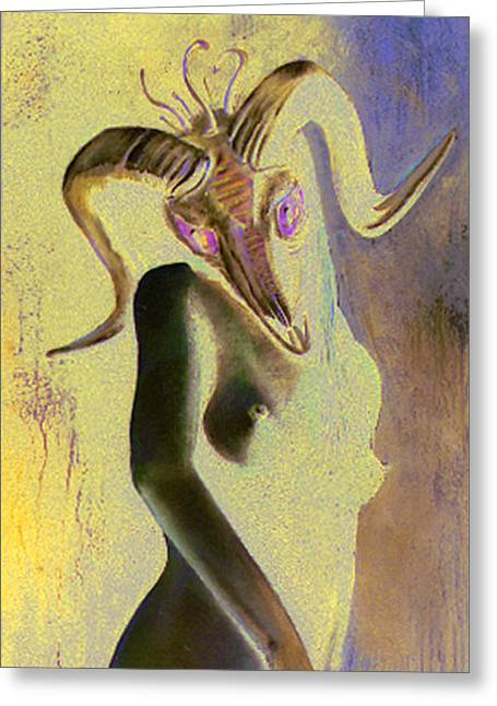 Figural Pastels Greeting Cards - Be Careful What You Wish For Greeting Card by Paul Autodore