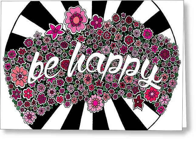 Be Happy Greeting Card by Elizabeth Davis