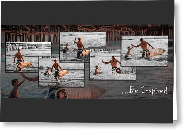 Clemente Greeting Cards - Be Inspired - Pano Greeting Card by Scott Campbell