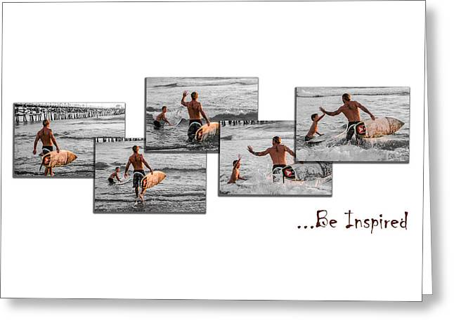 Clemente Greeting Cards - Be Inspired - Pano White Greeting Card by Scott Campbell