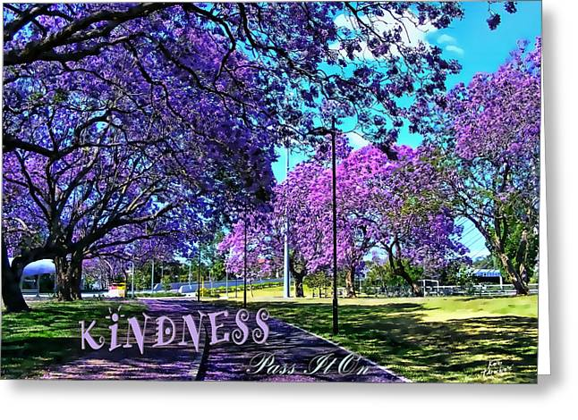 Be Kind To Each Other Greeting Card by Kathy Tarochione