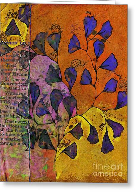 Modern Digital Art Digital Art Greeting Cards - Be Leaf - 2220a Greeting Card by Variance Collections