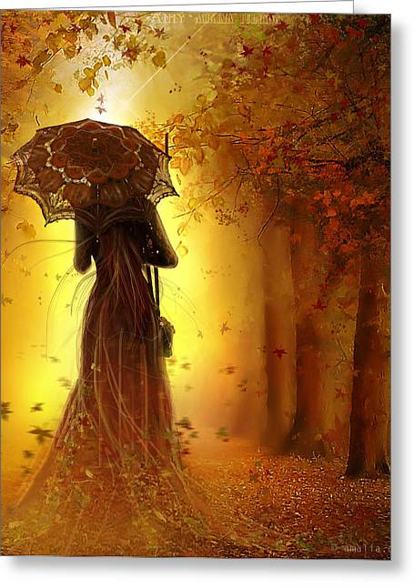 Be My Autumn Greeting Card by Amalia Iuliana Chitulescu