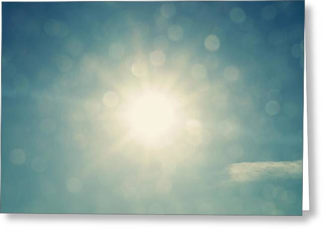 Twinkle Greeting Cards - Be The Light Abstract  Greeting Card by Terry DeLuco