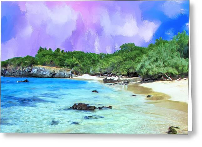 Lahaina Greeting Cards - Beach 69 Big Island Greeting Card by Dominic Piperata