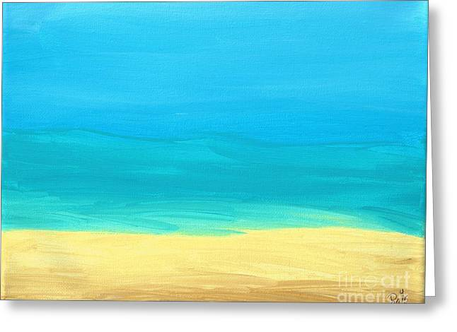 Paint Photograph Greeting Cards - Beach Abstract Greeting Card by D Hackett
