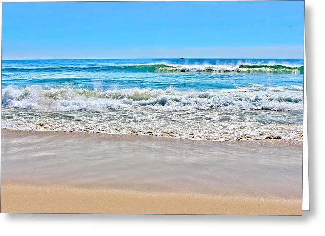 Surf Lifestyle Greeting Cards - Beach and Ocean Waves Greeting Card by Colleen Kammerer