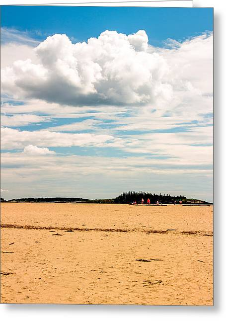 Maine Beach Greeting Cards - Beach and Sky Greeting Card by Laurie Breton