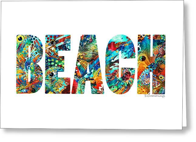 California Beaches Greeting Cards - Beach Art - Beachy Keen - By Sharon Cummings Greeting Card by Sharon Cummings
