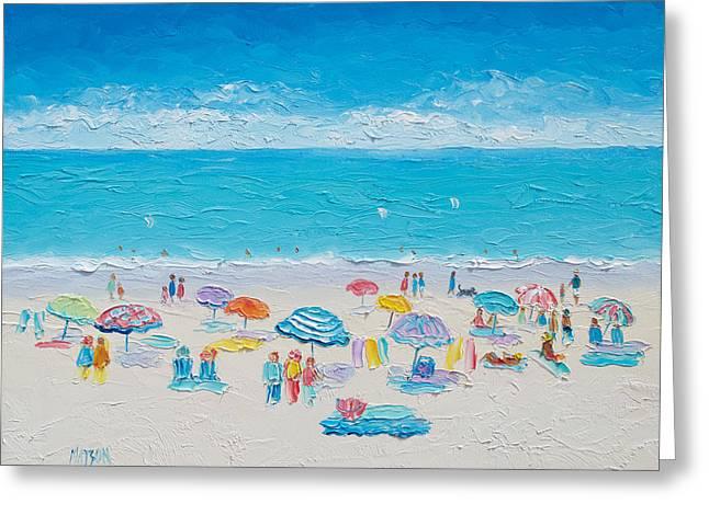Ocean Art. Beach Decor Greeting Cards - Beach Art - Fun in the Sun Greeting Card by Jan Matson
