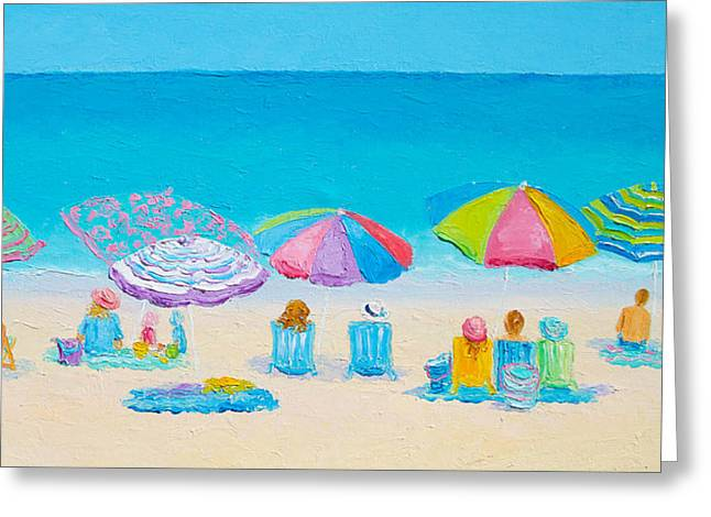 Beach Art Greeting Cards - Beach Art - Live by the Sun Greeting Card by Jan Matson