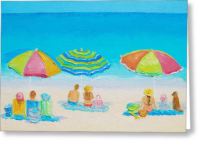 Bathroom Prints Greeting Cards - Beach Art - Summer Paradise Greeting Card by Jan Matson
