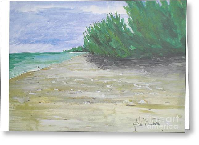 Seacape Paintings Greeting Cards - Beach At Ft. Myers Greeting Card by Hal Newhouser
