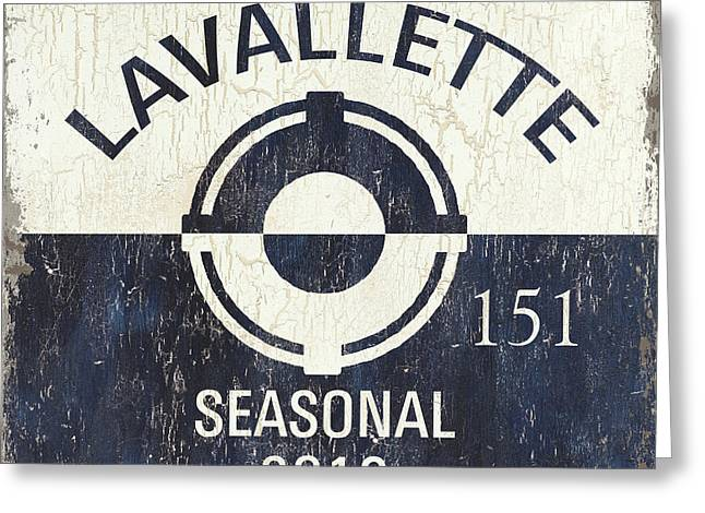 New Jersey Paintings Greeting Cards - Beach Badge Lavalette Greeting Card by Debbie DeWitt