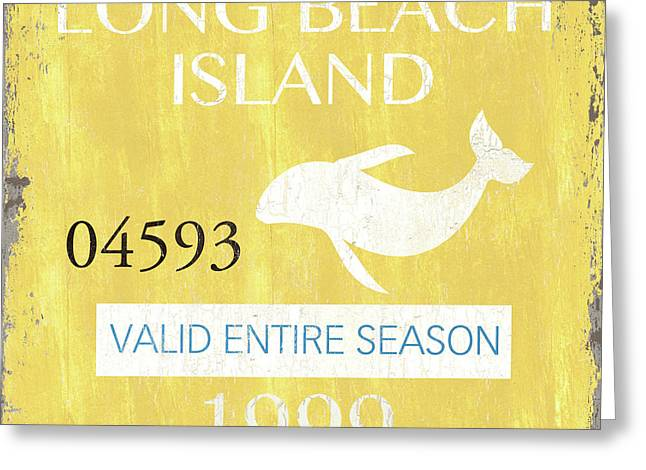 Beach Badge Long Beach Island 2 Greeting Card by Debbie DeWitt