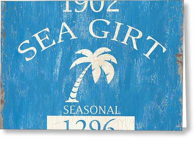 Beach Badge Sea Girt Greeting Card by Debbie DeWitt