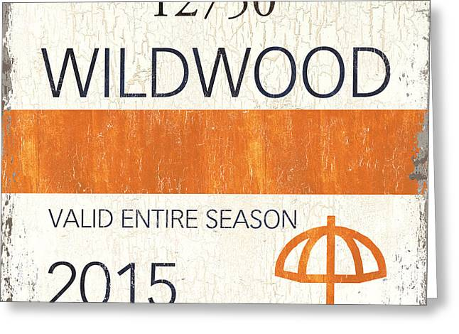 Wildwood Greeting Cards - Beach Badge Wildwood Greeting Card by Debbie DeWitt