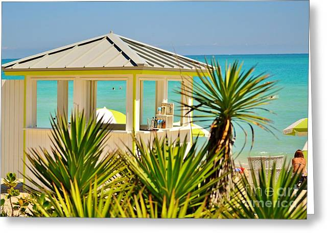 Rene Triay Photography Greeting Cards - Beach Bar Greeting Card by Rene Triay Photography