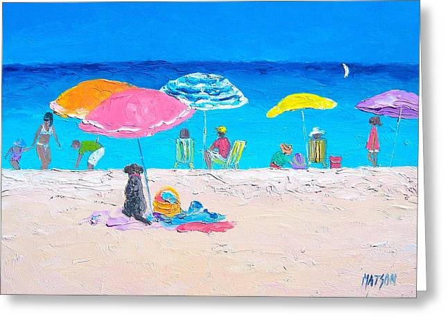 Beach Themed Greeting Cards - Beach Bliss by Jan Matson Greeting Card by Jan Matson