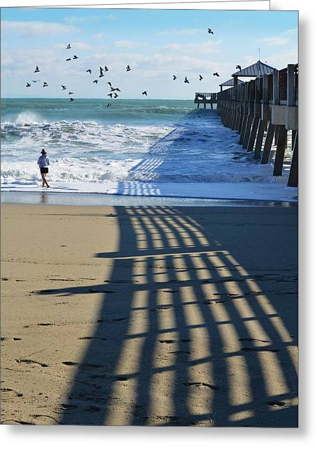 Day At The Beach Greeting Cards - Beach Bliss Greeting Card by Laura  Fasulo