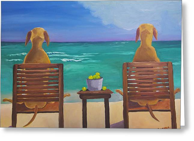 Beach Blondes Greeting Card by Roger Wedegis
