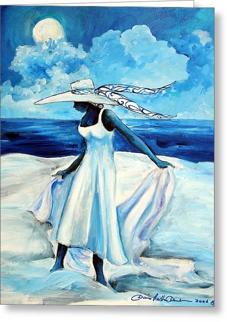 St Helena Island Greeting Cards - Beach Blues Greeting Card by Diane Britton Dunham