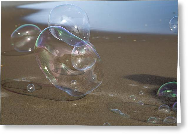 Beach Bubbles Greeting Card by Betsy C Knapp