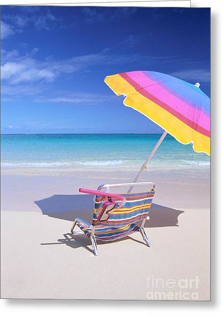 Snorkel Greeting Cards - Beach Chair Greeting Card by Bill Brennan - Printscapes