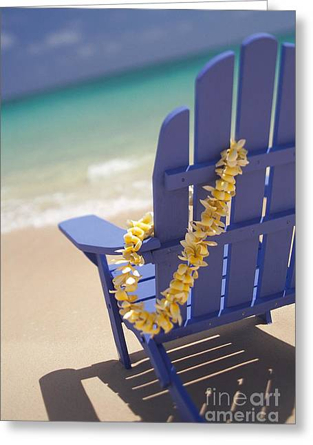 Aloha From Hawaii Greeting Cards - Beach Chair Greeting Card by Dana Edmunds - Printscapes